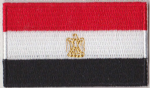 Egypt Embroidered Flag Patch, style 04.